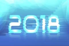 2018 neues Jahr! Plakat Lizenzfreies Stockfoto