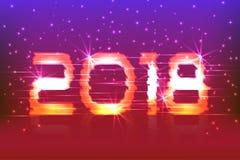 2018 neues Jahr! Plakat Cyber Lizenzfreie Stockfotos