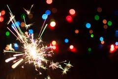 Neues Jahr ` s beleuchtet und spielt 15 Lizenzfreie Stockfotos