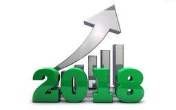 Neues Jahr 2018 ` s Erfolg, Wachstum und Reichtum Stockfoto