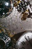 Neues Jahr 2017 ` s Eve Grunge Background With Midnight Uhr und Nr. Stockbilder