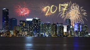 Neues Jahr ` s Eve in Miami Lizenzfreie Stockbilder