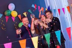 Neues Jahr ` s Eve Party Lizenzfreie Stockfotos