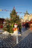 Neues Jahr ` s GUMMI angemessen auf rotem Quadrat in Moskau, Russland Stockbilder