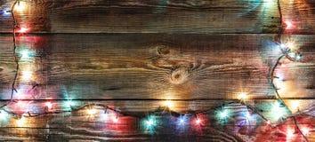 Neues Jahr `s Hintergrund Weihnachtshintergrund Weihnachtsgirlande Lizenzfreies Stockbild