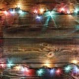 Neues Jahr `s Hintergrund Weihnachtshintergrund Weihnachtsgirlande Lizenzfreies Stockfoto