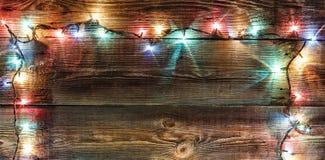 Neues Jahr `s Hintergrund Weihnachtshintergrund Weihnachtsgirlande Lizenzfreie Stockfotos