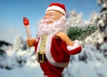 Neues Jahr ` s Kartenhintergrund mit Santa Claus Stockfotos