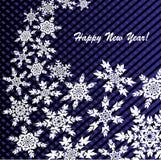 Neues Jahr ` s oder Weihnachtshintergrund mit Schneeflocken Lizenzfreies Stockbild