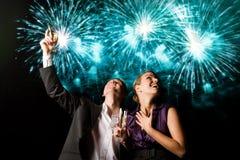 Neues Jahr ` s Paare Stockfoto