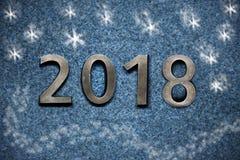 Neues Jahr ` s Tagesgoldene Zahlen 2018 Lizenzfreie Stockfotografie