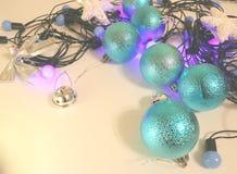 Neues Jahr ` s und Weihnachtsdekoration Stockfotos