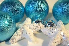 Neues Jahr ` s und Weihnachtsdekoration Stockbild