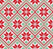 Neues Jahr ` s Weihnachtsmusterpixel für Druck Stockbilder