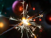 Neues Jahr ` s Wunderkerze Lizenzfreie Stockfotos