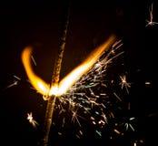Neues Jahr ` s Wunderkerze Stockbild