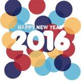Neues Jahr-Schablone 2016 Stockbilder
