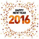 Neues Jahr-Schablone 2016 Lizenzfreies Stockfoto