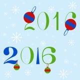 Neues Jahr 2016 Text-Design Stockbild