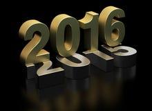 Neues Jahr 2016 und altes 2015 Stockfotos