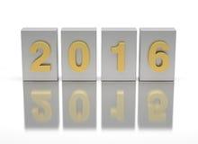 Neues Jahr 2016 und altes 2015 Lizenzfreie Stockfotografie