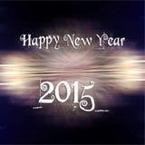 Neues Jahr 2015 und Feuerwerkshintergrund Stockfotos