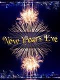 Neues Jahr 2015 und Feuerwerkshintergrund Stockbild