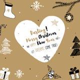 Neues Jahr-und frohe Weihnacht-Postkarte Stockbilder