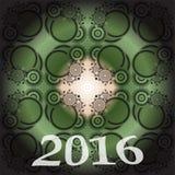 2016-neues Jahr- und glückliches Weihnachtshintergrund für Ihre Flieger, Einladung, Parteiposter, Grußkarte, Broschürenabdeckung  Lizenzfreie Stockfotografie