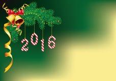 2016-neues Jahr- und Weihnachtsdekoration Vektor Abbildung