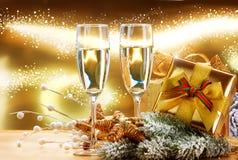 Neues Jahr-und Weihnachtsfeier Stockbild