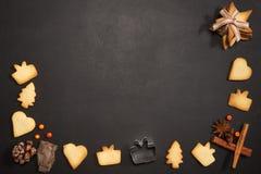 Neues Jahr-und Weihnachtsgruß-Karte Lizenzfreies Stockfoto