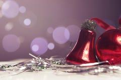 Neues Jahr- und Weihnachtsgrußkartensaisonalzusammensetzung mit t Stockbilder