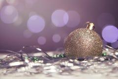 Neues Jahr- und Weihnachtsgrußkartensaisonalzusammensetzung mit t Lizenzfreies Stockbild