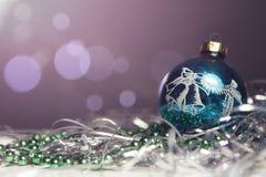 Neues Jahr- und Weihnachtsgrußkartensaisonalzusammensetzung mit t Stockfotos