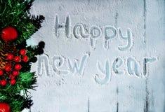 Neues Jahr und Weihnachtskarte Stockfoto