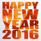 Neues Jahr 2016 Vektor-Schablone Lizenzfreie Stockfotografie