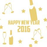Neues Jahr 2016 Vektor-Schablone Lizenzfreies Stockbild