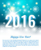 Neues Jahr 2016 Vektorpostkarte Stockbilder