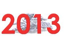 Neues Jahr von 2013 Stockfoto