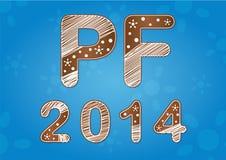 Neues Jahr wünscht 2014 Lizenzfreie Stockbilder