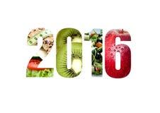 Neues Jahr wünscht 2016 Lizenzfreies Stockfoto