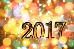Neues Jahr, Weihnachtshintergrund der farbigen Lichterkette Lizenzfreies Stockfoto