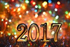 Neues Jahr, Weihnachtshintergrund der farbigen Lichterkette Lizenzfreie Stockbilder