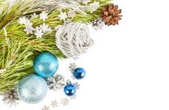 Neues Jahr-Weihnachtszusammensetzungs-Kartenhintergrund lizenzfreie stockfotos