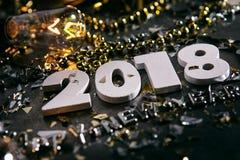 Neues Jahr: Winkliger Schuss des neuen Jahres 2018 Lizenzfreies Stockbild