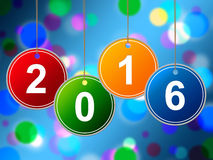 Neues Jahr zeigt zwei tausend sechzehn und Jahrbuch Stockbilder
