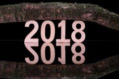 Neues Jahr zwei tausend achtzehn Stockfoto