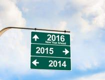 Neues Jahr zwei tausend sechs jugendlich (2016) Richtungsmöglichkeit Lizenzfreies Stockbild