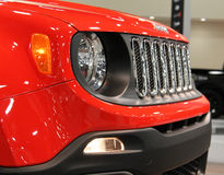 Neues kompaktes Jeepfrontdetail Stockfotografie